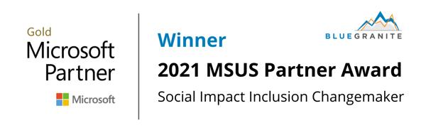 2021 MSUS Partner Award - Inclusion Changemaker