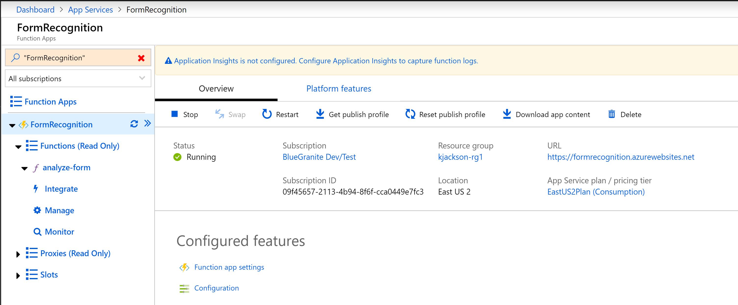 Microsoft form recognizer
