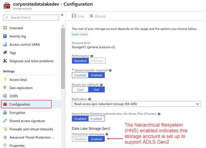 Azure Data Lake Configuration Properties
