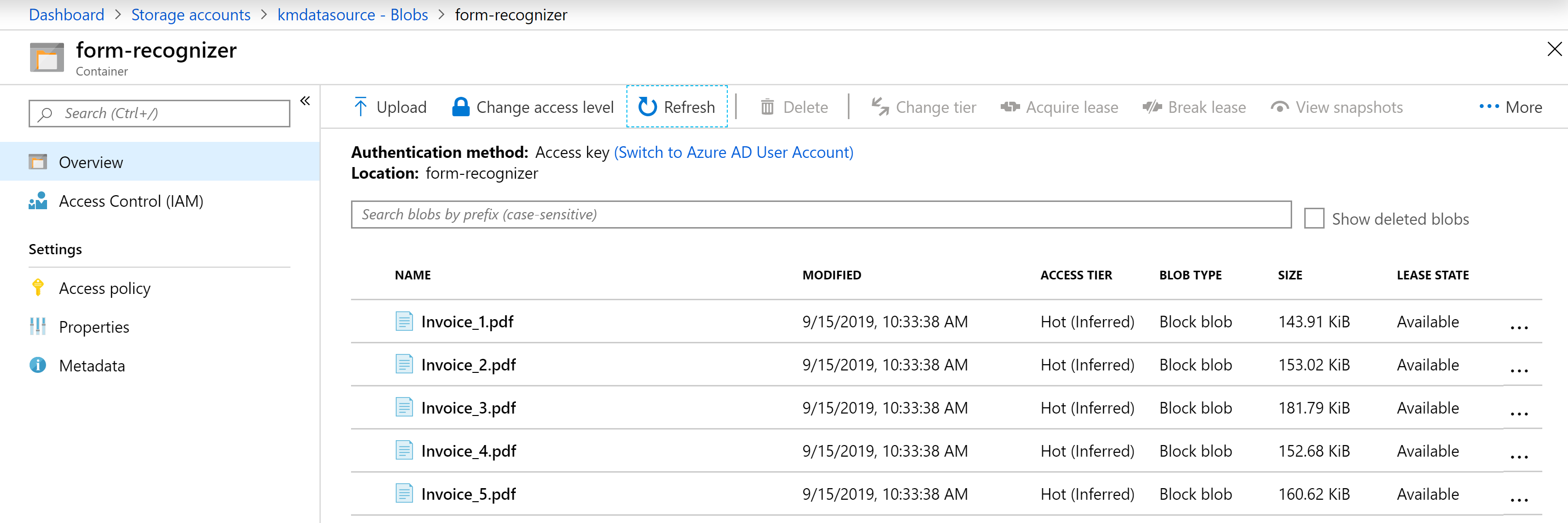 form recognizer azure search example pt 2