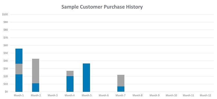 sample customer purchase history