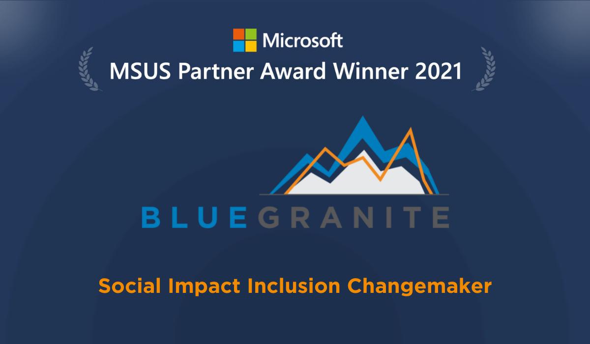 BlueGranite Takes Home Microsoft U.S. Partner Award in 2021